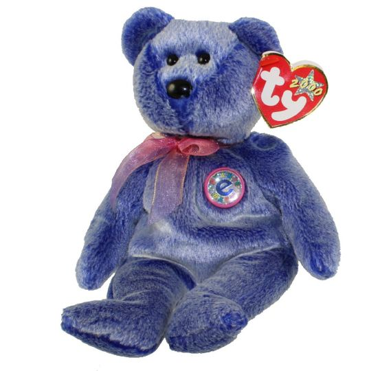 6c73c1b6ca8 TY Beanie Baby - PERIWINKLE the e-Bear (8.5 inch)  BBToyStore.com - Toys