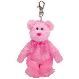 74a2dbfe0b0 TY Pinkys - DAZZLER the Pink Bear (Metal Key Clip) ...
