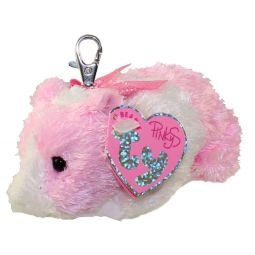 TY Pinkys - ROSA the Pink   White Guinea Pig ( Metal Key Clip ) ( c99a7883eb22