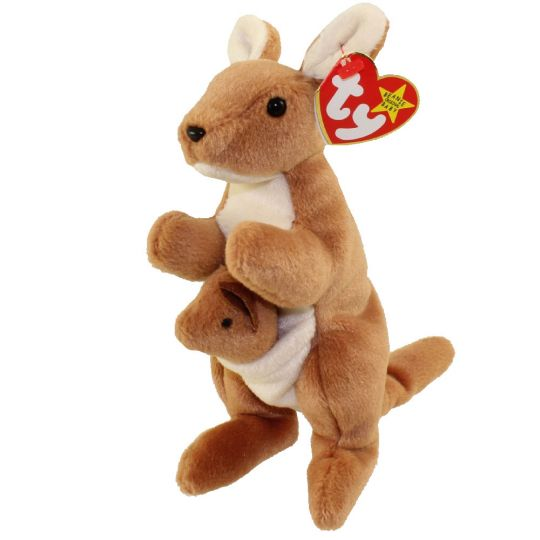 TY Beanie Baby - POUCH the Kangaroo (7 inch)  BBToyStore.com - Toys ... f813a3b3043