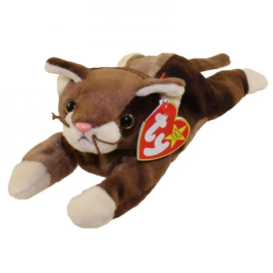 TY POUNCE the CAT BEANIE BABY MINT with MINT TAGS