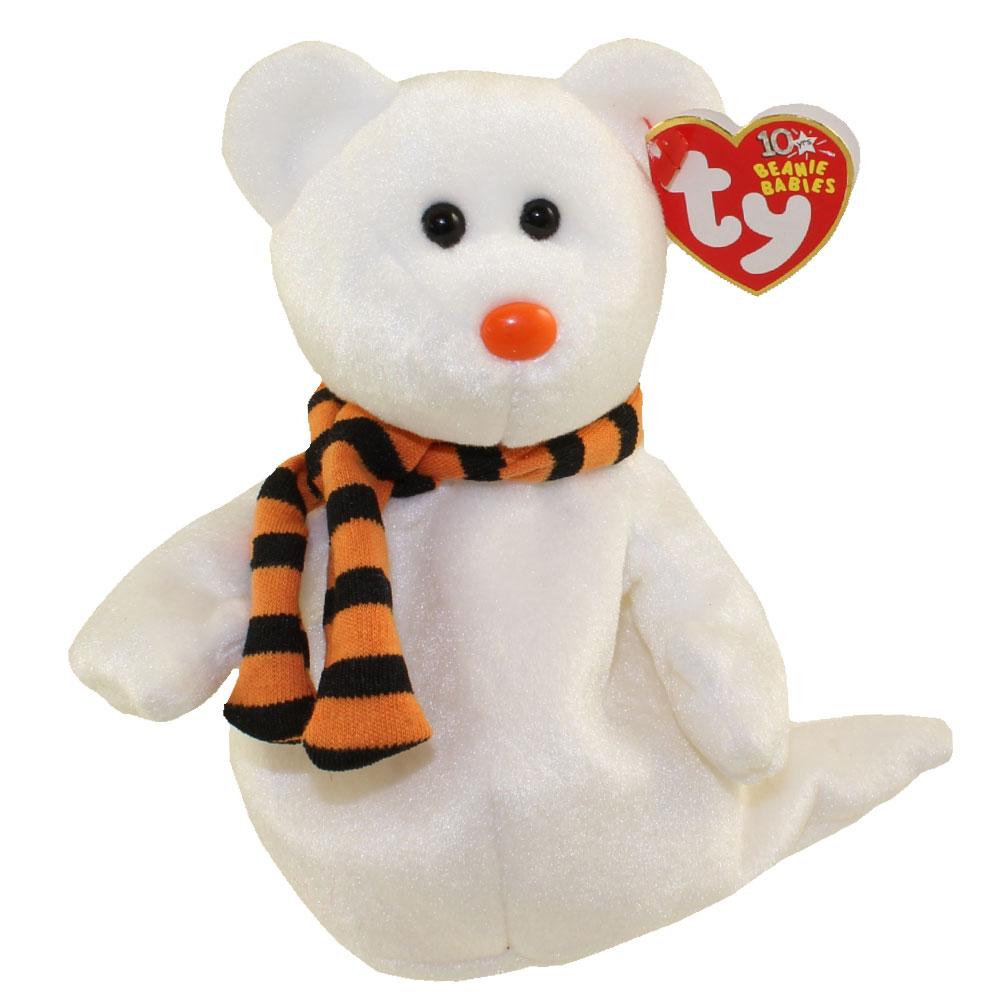 TY Halloween Halloweenie Beanie Quivers Ghost Bear