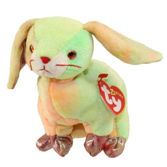 5c0bac95924 TY Beanie Baby - THE RABBIT Chinese Zodiac (6.5 inch)  BBToyStore.com -  Toys