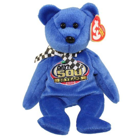 TY Beanie Baby - RACING GOLD the Nascar Bear ( Blue Version ) (8.5 inch)   BBToyStore.com - Toys 2a6addff3ff