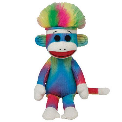 TY Beanie Baby - RAINBOW Sock Monkey (9.5 inch ...