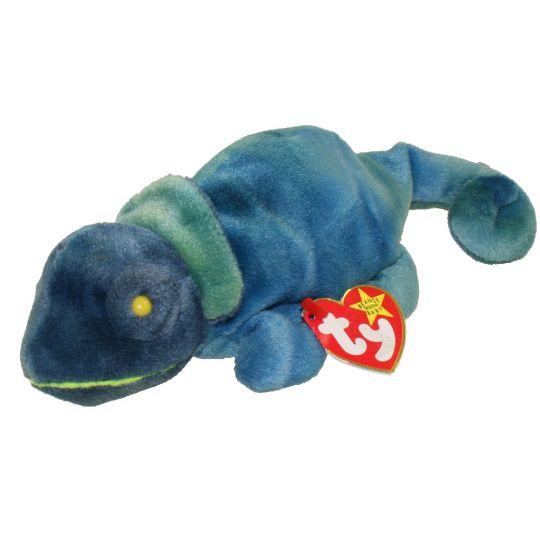 172a8eb6397 TY Beanie Baby - RAINBOW the Chameleon (dark blue) (9 inch)  BBToyStore.com  - Toys