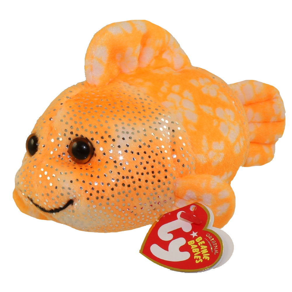 Ty beanie baby reefs the orange clown fish 7 inch for Fish beanie baby