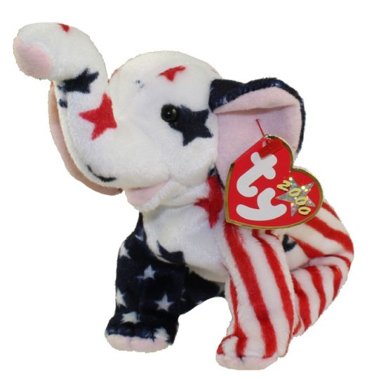 TY Beanie Baby - RIGHTY 2000 the Elephant (6.5 inch)  BBToyStore.com -  Toys d0a756ab314