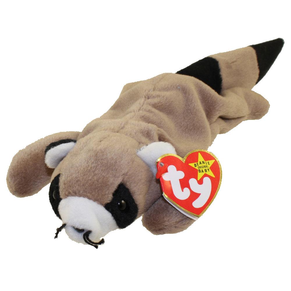 Ty Beanie Baby Ringo The Raccoon 8 Inch Bbtoystore
