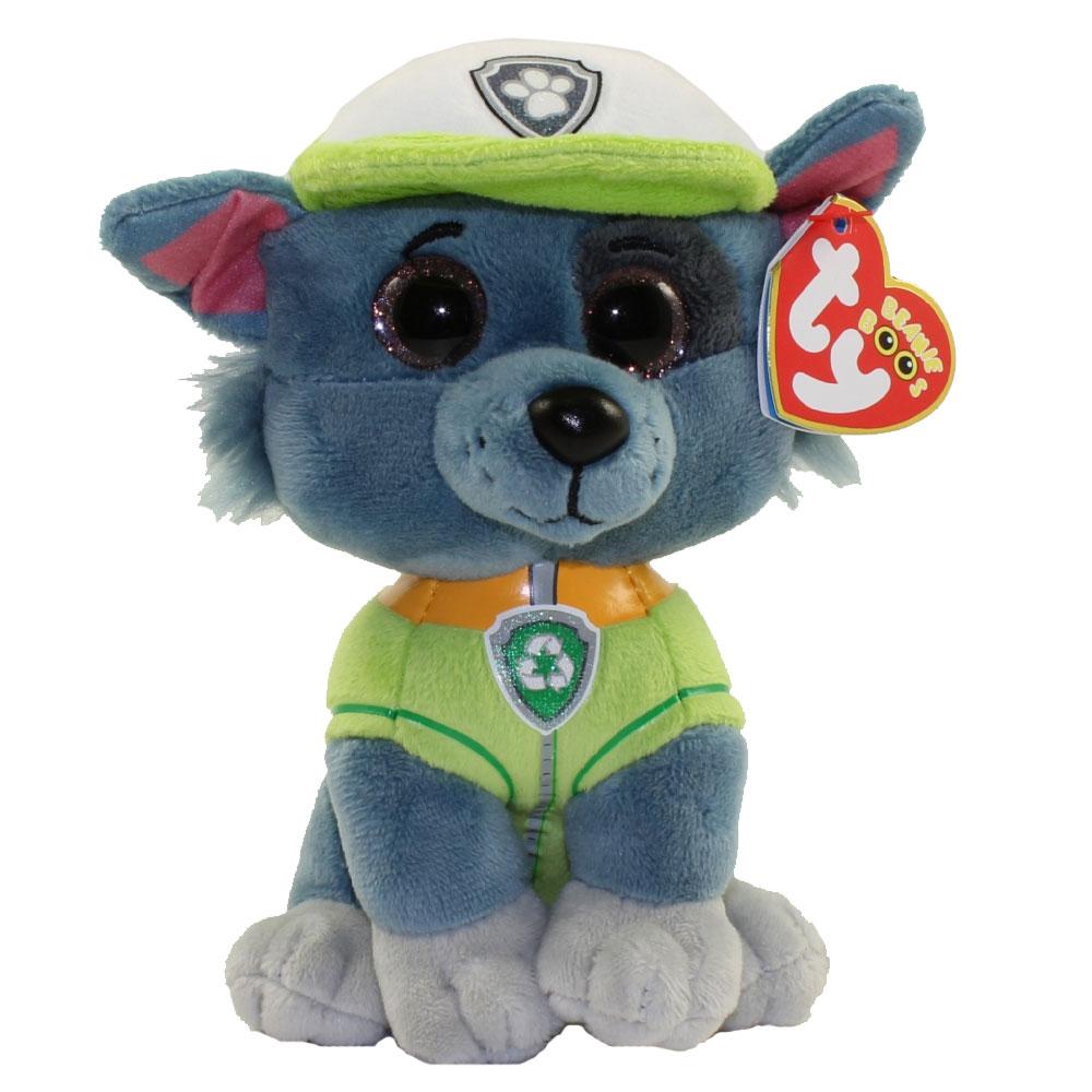 TY Beanie Baby - Paw Patrol - ROCKY Grey Dog (6 inch)  BBToyStore.com -  Toys a23760bebac