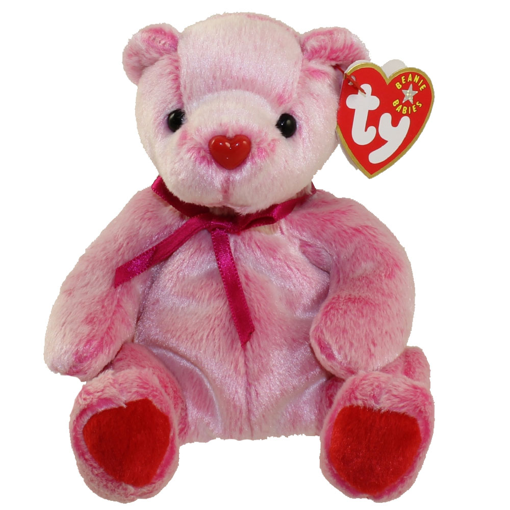 TY Beanie Baby   ROMANCE The Valentines Day Bear (7 Inch)