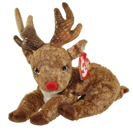 TY Beanie Baby - ROXIE the Reindeer (Red Nose) (7.5 inch)  BBToyStore.com -  Toys f05a5594094