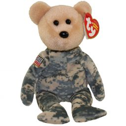 TY Beanie Baby - SALUTE the Bear (Flag on Arm - Internet Exclusive) ( f774e96db203