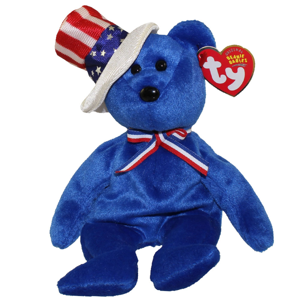 TY Beanie Baby - SAM the Bear (Blue Version) (9 inch)  BBToyStore.com -  Toys 25e69e24c11