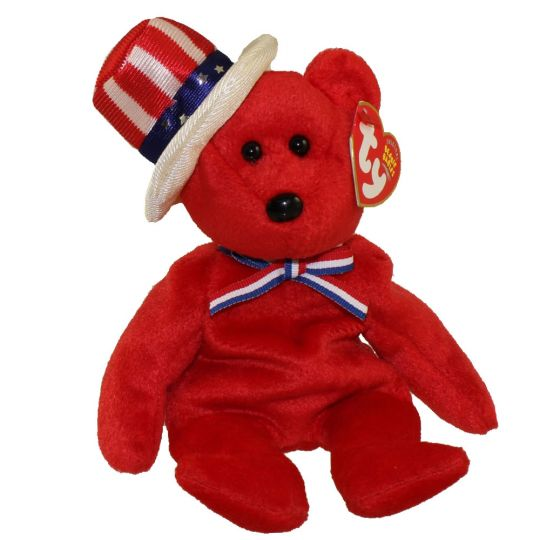 TY Beanie Baby - SAM the Bear (Red Version) (9 inch)  BBToyStore.com -  Toys defb1e97161