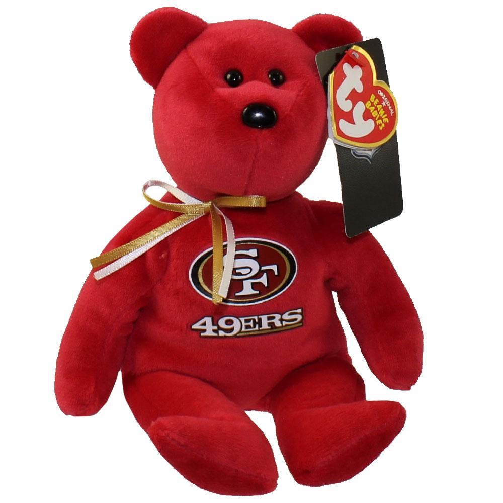 Ty Beanie Baby Nfl Football Bear San Francisco 49ers