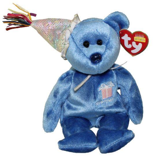 315175a7597 TY Beanie Baby - SEPTEMBER the Teddy Birthday Bear (w  hat) (9.5 inch)   BBToyStore.com - Toys