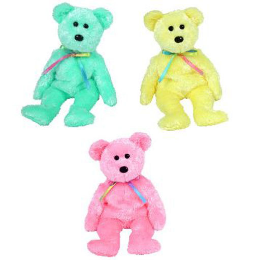 d69dc28eba7 TY Beanie Babies - SHERBET Bears (Set of 3 - Yellow