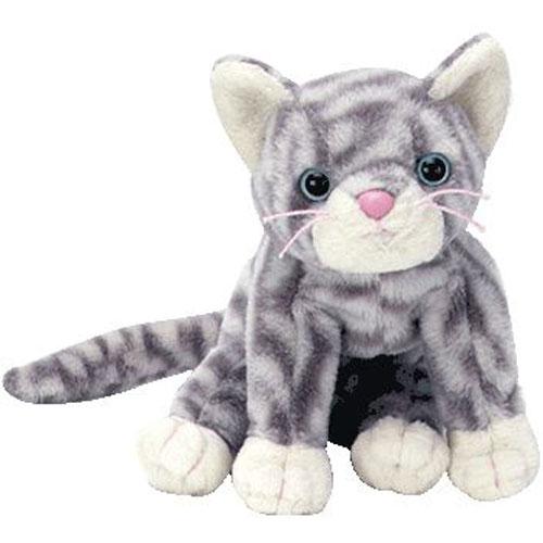 TY Beanie Baby - SILVER the Cat (5.5 inch)  BBToyStore.com - Toys ... 50158b9eea66