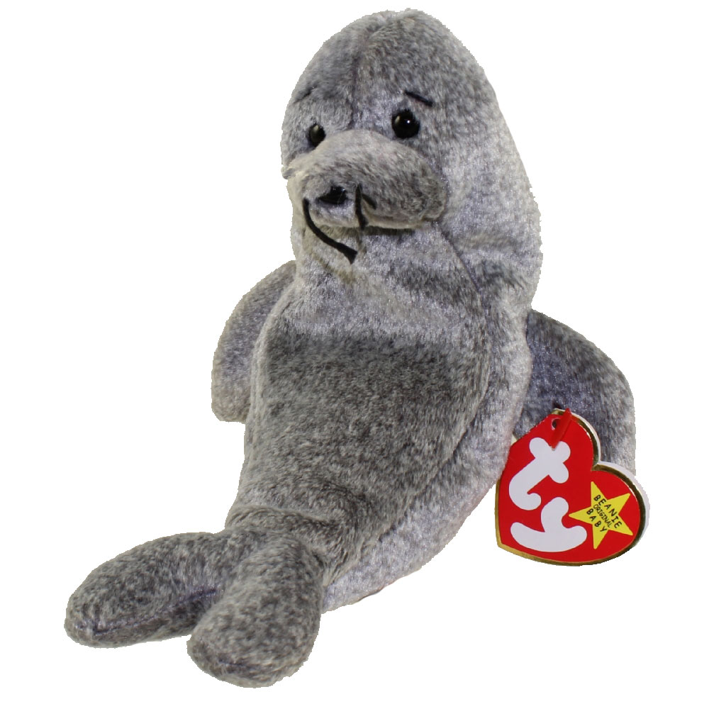 b63f2042de7 TY Beanie Baby - SLIPPERY the Seal (7 inch)