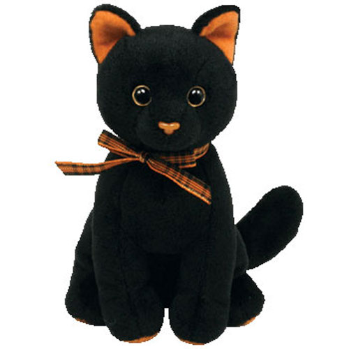 Ty Beanie Baby Sneaky The Black Orange Cat 6 Inch Bbtoystore