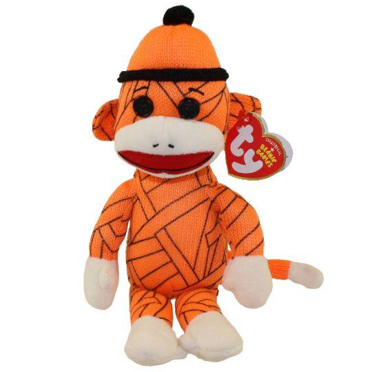TY Beanie Baby - SOCK MONKEY (Mummy - 8.5 inch)  BBToyStore.com - Toys 91d5a40d36a