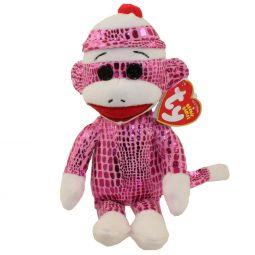 623d839f55b TY Beanie Baby - SOCK MONKEY (Sparkle Pink) ...