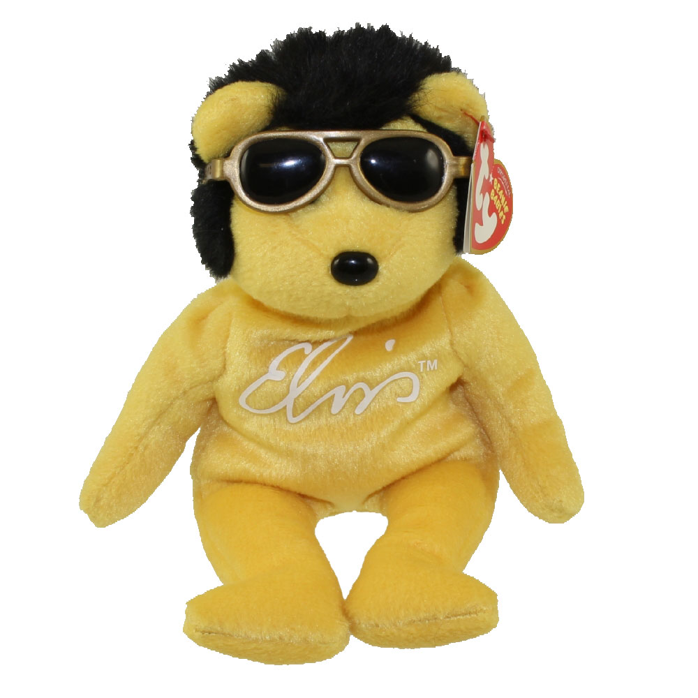 d441b1439a5 TY Beanie Baby - SOLID GOLD BEANIE the Elvis Bear (Walgreen s Exclusive) (9
