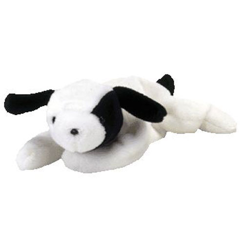 ty beanie baby - spot the dog  4th gen hang tag   8 inch   bbtoystore com