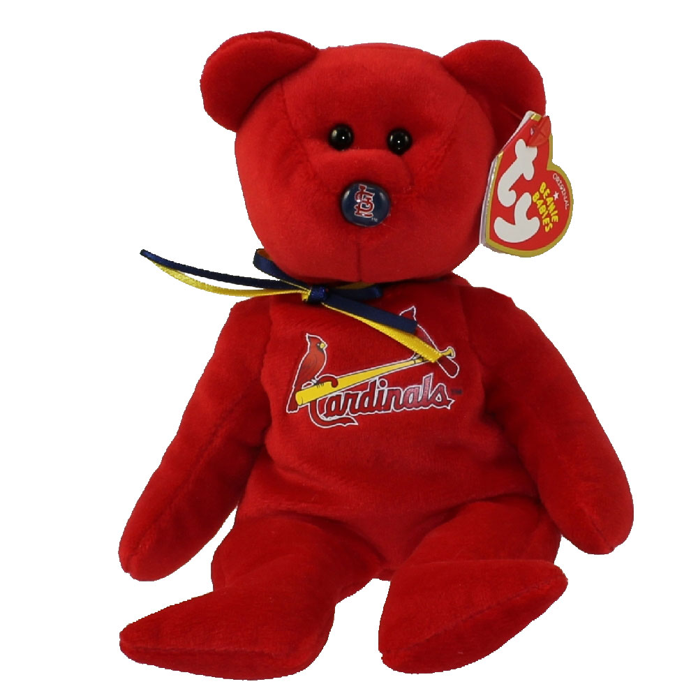 TY Beanie Baby - MLB Baseball Bear - ST LOUIS CARDINALS (8.5 inch)