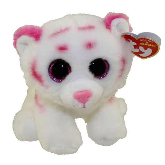 Ty Beanie Baby Tabor The Pink White Tiger 6 Inch Bbtoystore