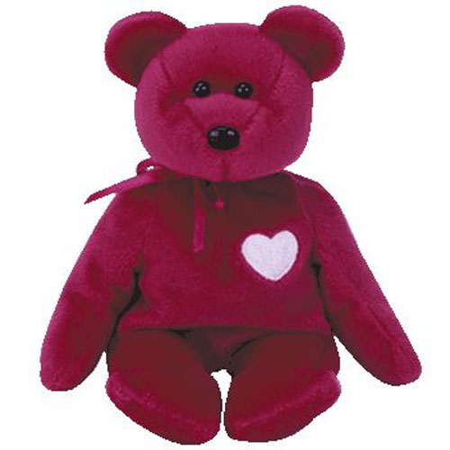 TY Beanie Baby - VALENTINA the Red Bear (8.5 inch)  BBToyStore.com - Toys 8d09b20caf63