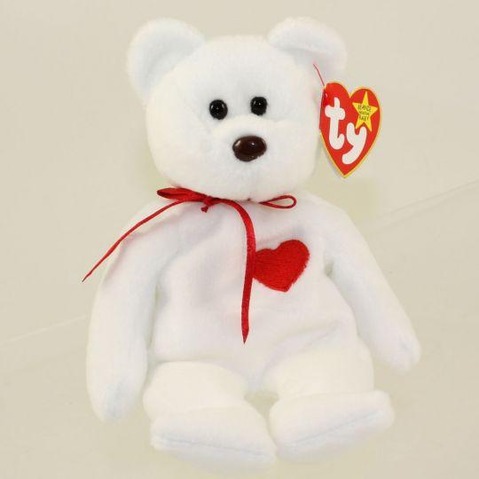 0b6c23a2059 TY Beanie Baby - VALENTINO the BEAR (PVC Pellets Tush Tag   Spelling Error)  MWMT s  BBToyStore.com - Toys