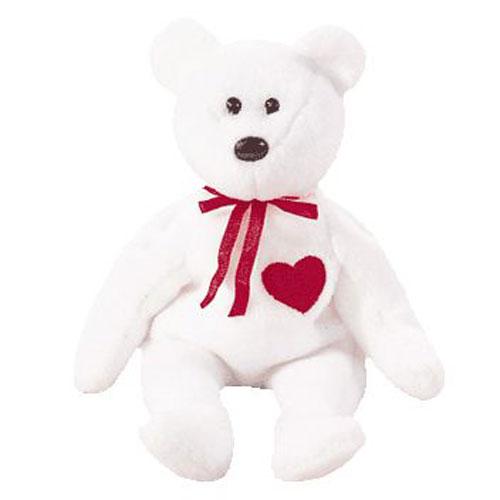 TY Beanie Baby VALENTINO The White Bear 85 Inch