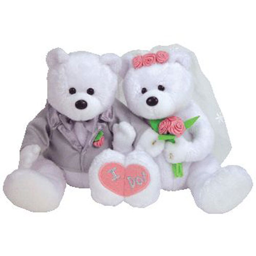 TY Beanie Babies - WE DO the Wedding Bears (set of 2) (8.5 inch)   BBToyStore.com - Toys 96e9a1d12d7