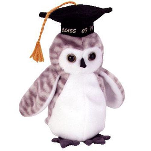 ty beanie baby - wiser the 1999 owl  7 inch   bbtoystore com