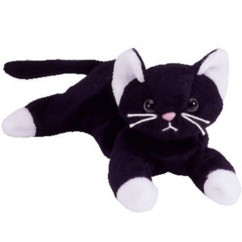 TY Beanie Baby - ZIP the Black Cat (7 inch)  BBToyStore.com - Toys ... 59ca24d399f3
