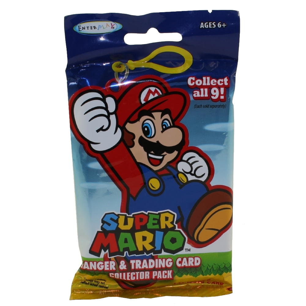 Enterplay - Super Mario Hanger & Trading Card Collector Pack - BLIND PACK (1 Hanger & 1 Card)