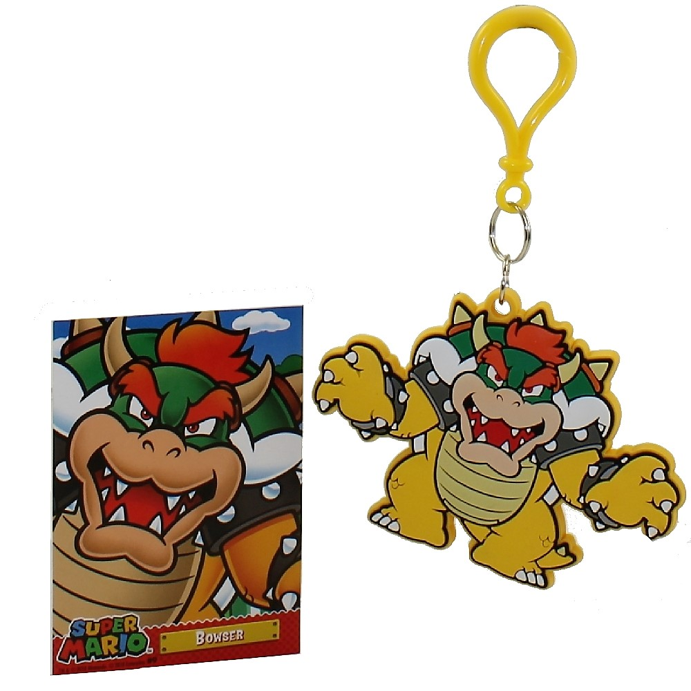 Enterplay - Super Mario Hanger & Trading Card - BOWSER (Hanger & Matching Card)(2.75 inch)