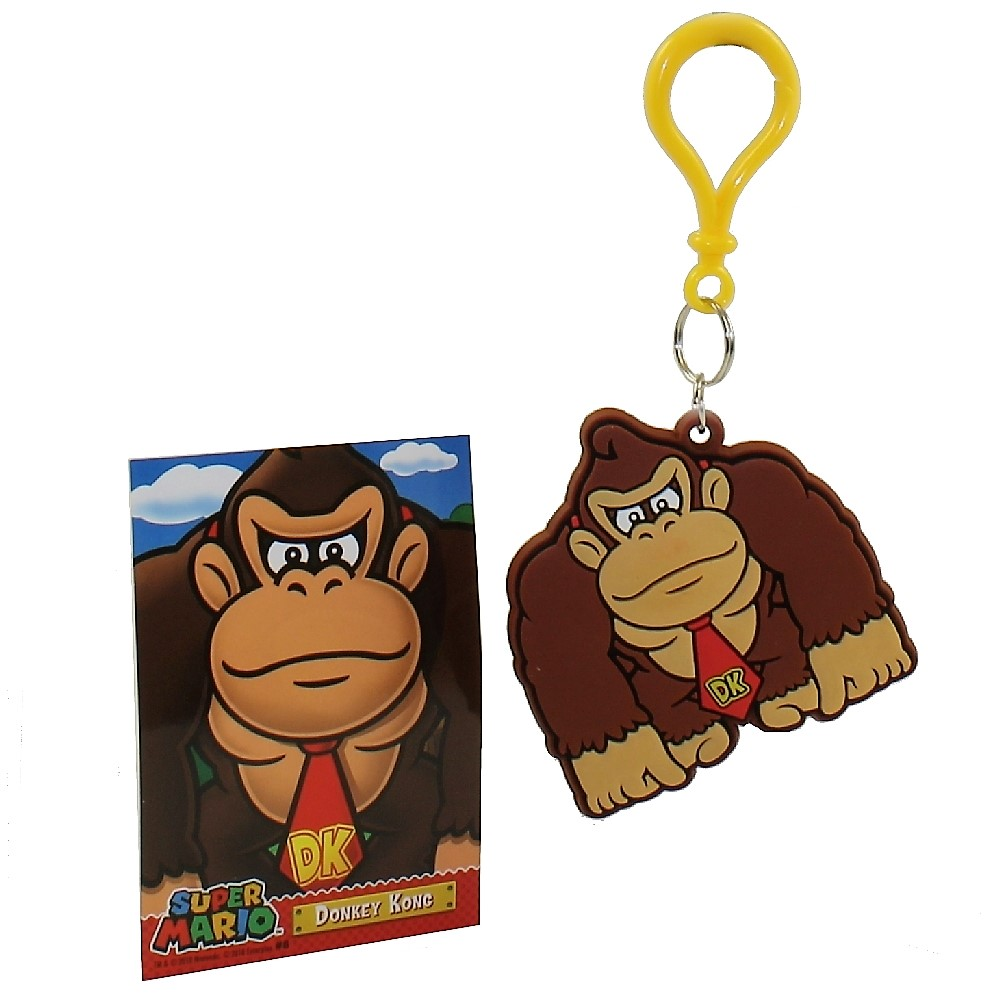 Enterplay - Super Mario Hanger & Trading Card - DONKEY KONG (Hanger & Matching Card)(2.75 inch)