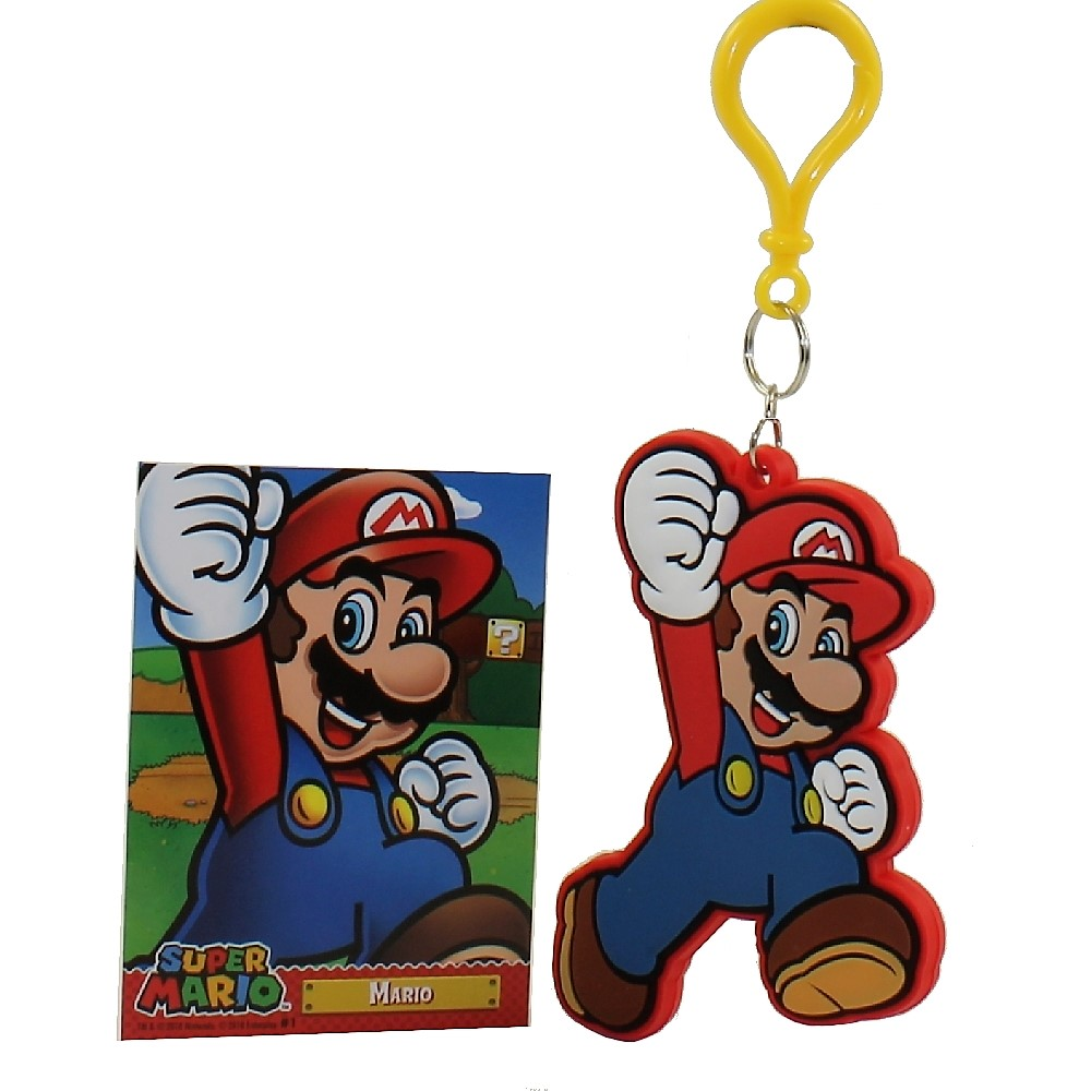 Enterplay - Super Mario Hanger & Trading Card - MARIO (Hanger & Matching Card)(3.5 inch)