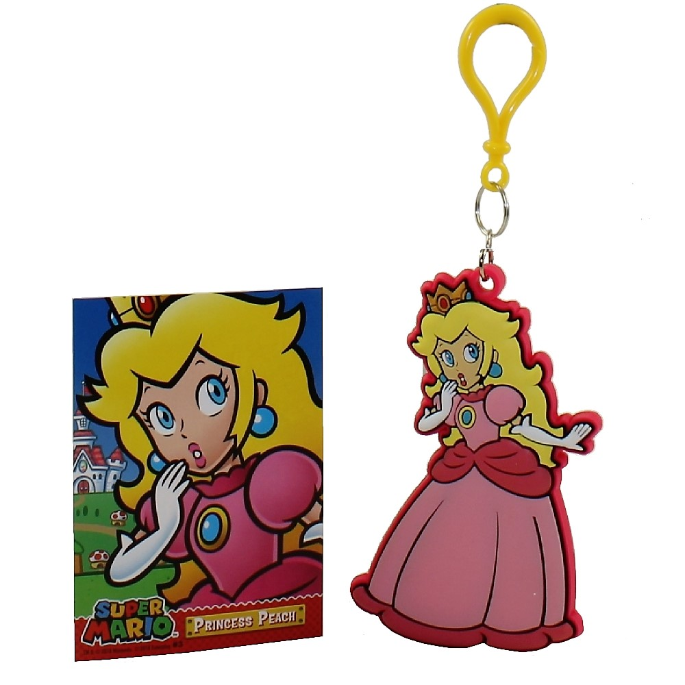 Enterplay - Super Mario Hanger & Trading Card - PRINCESS PEACH (Hanger & Matching Card)(3.5 inch)