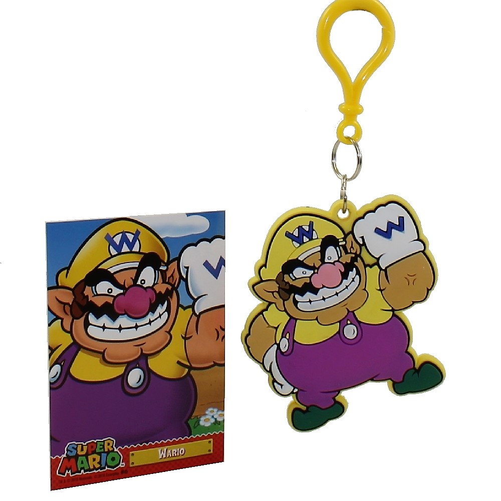 Enterplay - Super Mario Hanger & Trading Card - WARIO (Hanger & Matching Card)(3 inch)