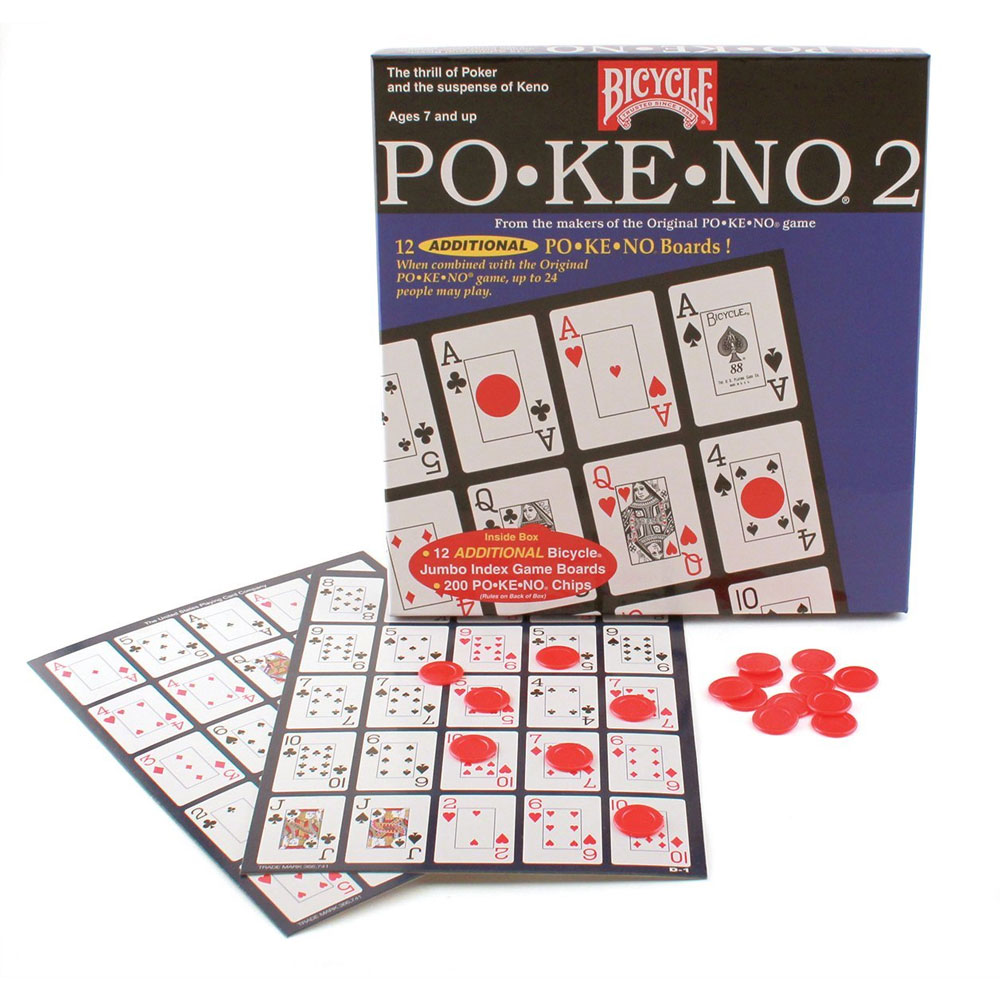 Original Pokeno Card Game by Bicycle Free Shipping New