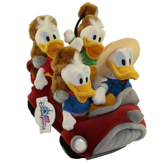 Awesome Disney Bean Bag Plush Set Donald Duck Nephews In Car Mickey Mouse 10 Inch 2001 Disneyana Con Squirreltailoven Fun Painted Chair Ideas Images Squirreltailovenorg
