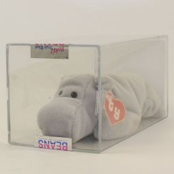 4ba613e426f Authenticated TY Beanie Baby - HAPPY the Hippo (Grey Version) (2nd Gen Hang