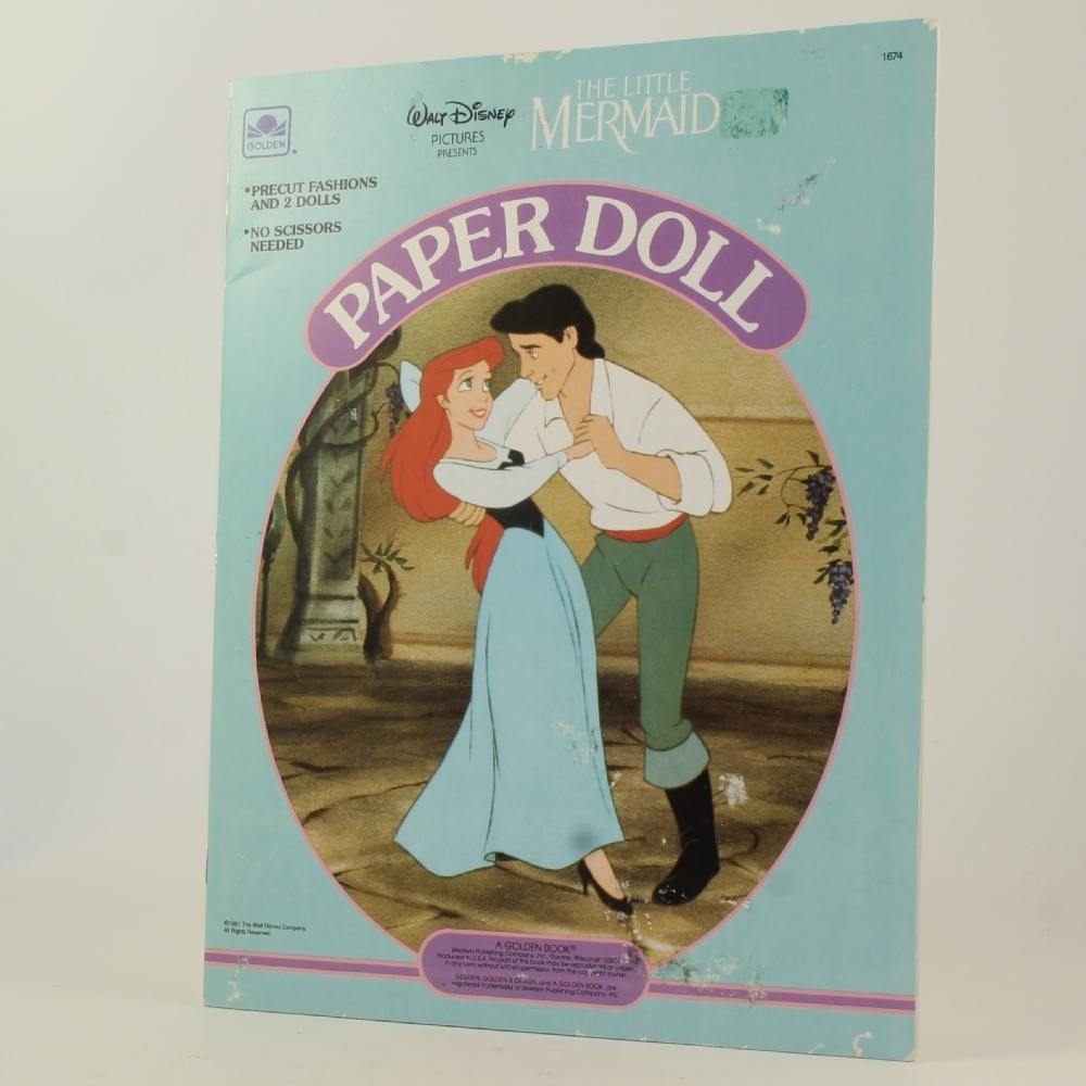 Golden Books - Disney's The Little Mermaid Paper Doll Book - **NON-MINT**