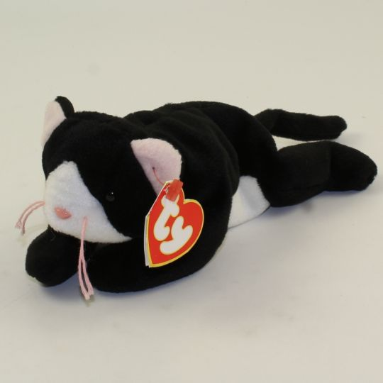 TY ZIP the CAT BEANIE BABY MINT with MINT TAGS