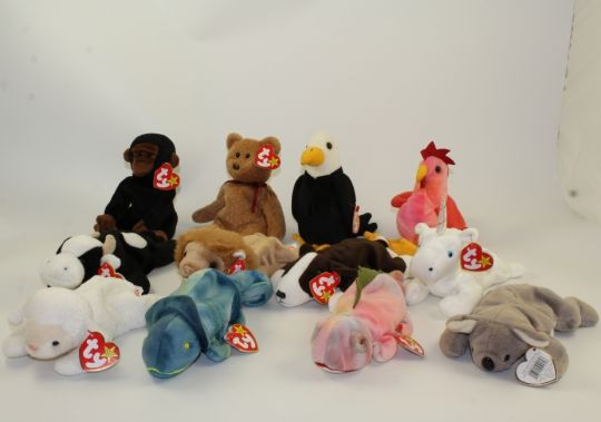 TY Beanie Babies - LOT of 12 w  INDONESIA TUSH TAGS (Roary 405331dfbe51