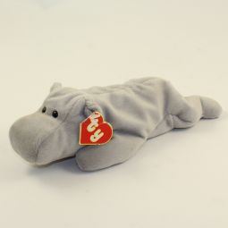 b2ce4ed6386 TY Beanie Baby - HAPPY the Hippo (Grey Version) (2nd Gen Hang Tag